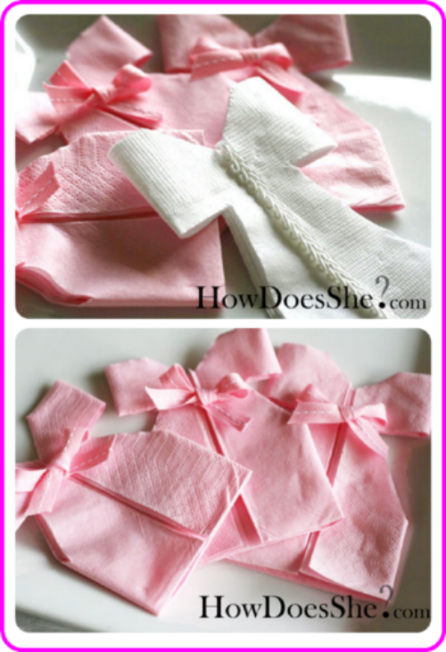 DIY Napkin Dresses