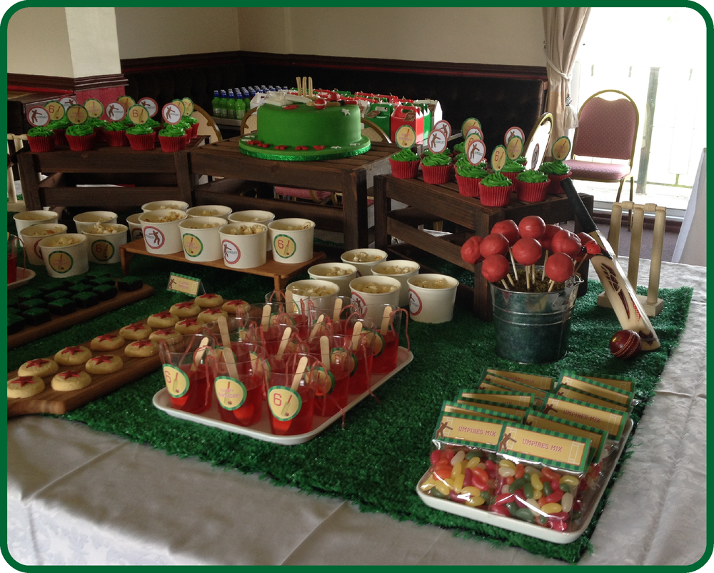 Cricket Party Table Decor