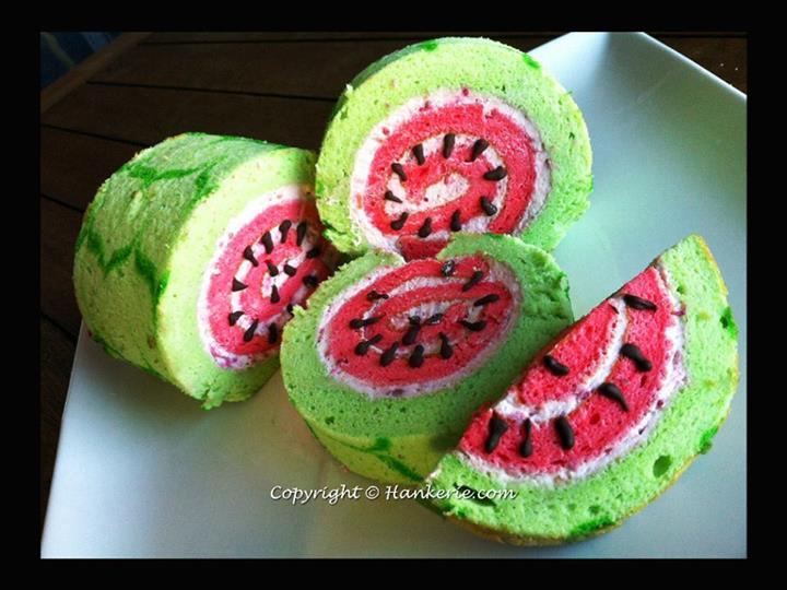 Watermelon Swiss Roll