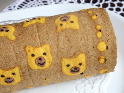 Chocolate Teddy Swiss Roll