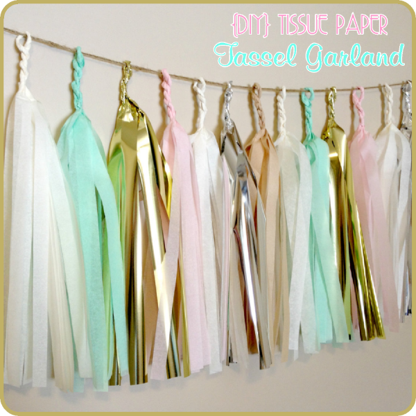 Tissue Paper Garland DIY (Dindindies)