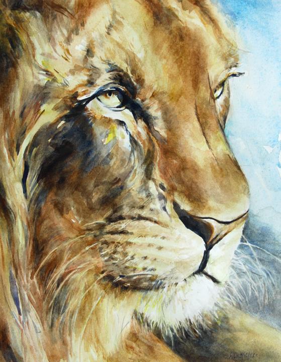 Serengeti 10 x 8 watercolor