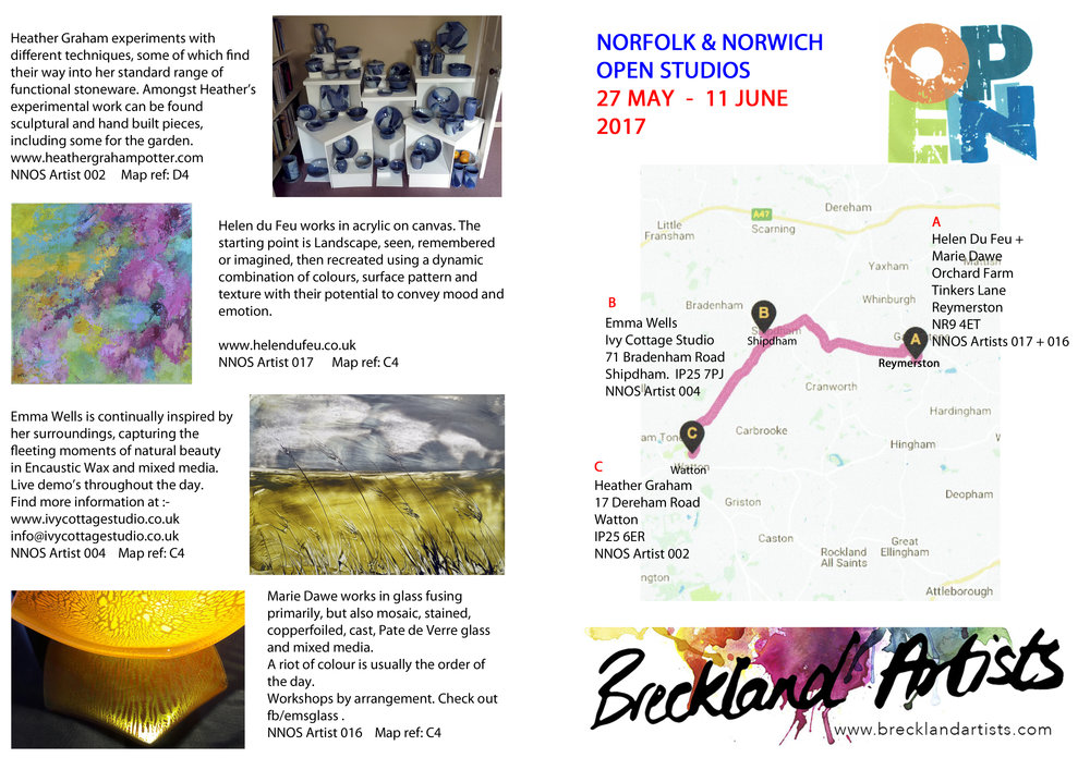 Breckland Artists Art Trail NNOS 2017