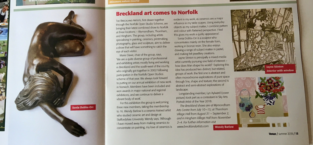 Breckland Artists in the arts magazine Venue.