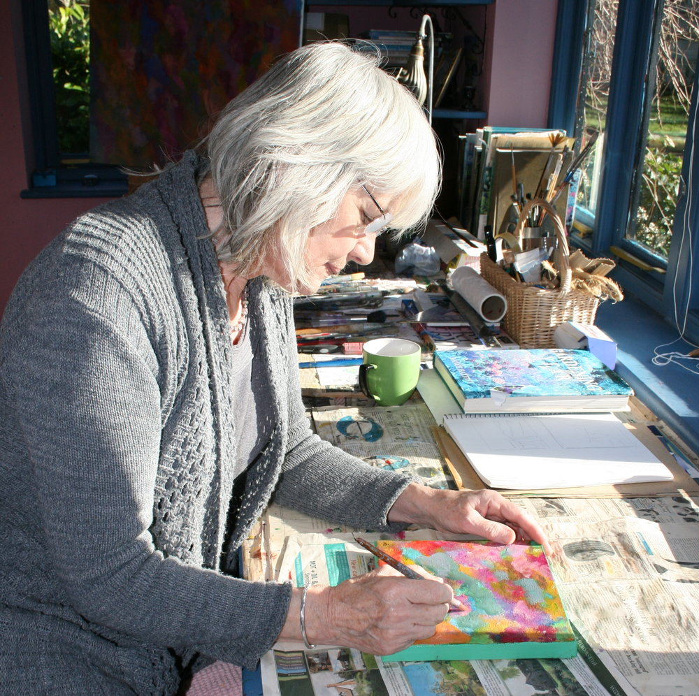 Helen du Feu at work in her studio