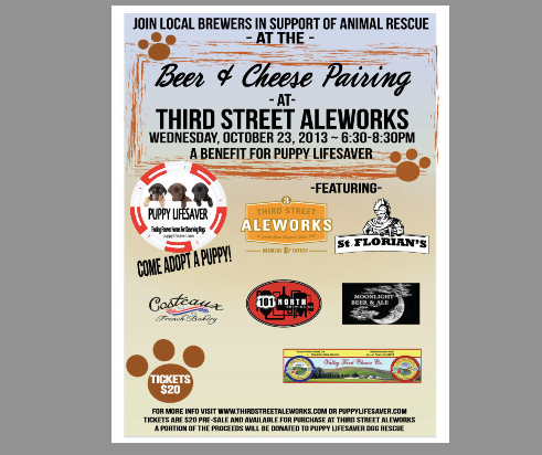 3rd Street Aleworks - Puppy Cheese & Beer 10.23.13.png