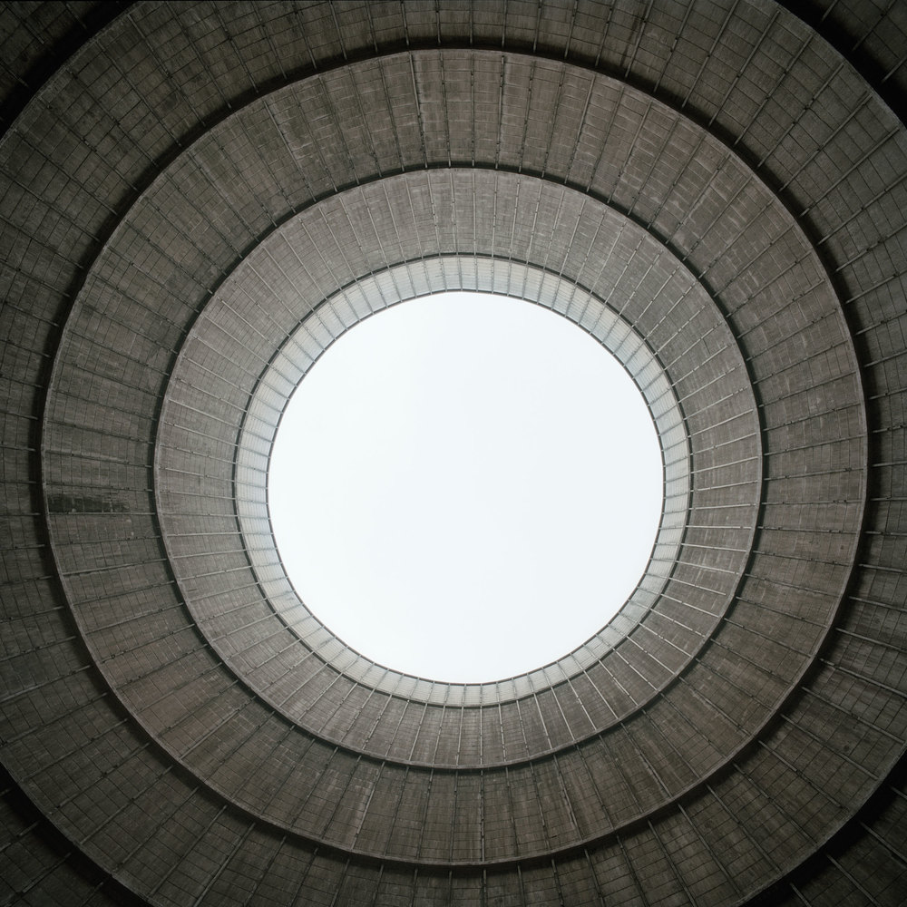 Cooling tower, Charleroi Belgium 2013, Lambda on dibond, 100 cm x 100 cm, edition 1/5 + 1 AP