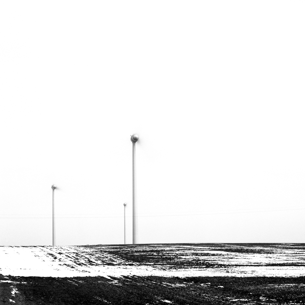 Wind turbines, Belgium 2013, Lambda on dibond, 100 cm x 100 cm, edition 1/5 + 1 AP