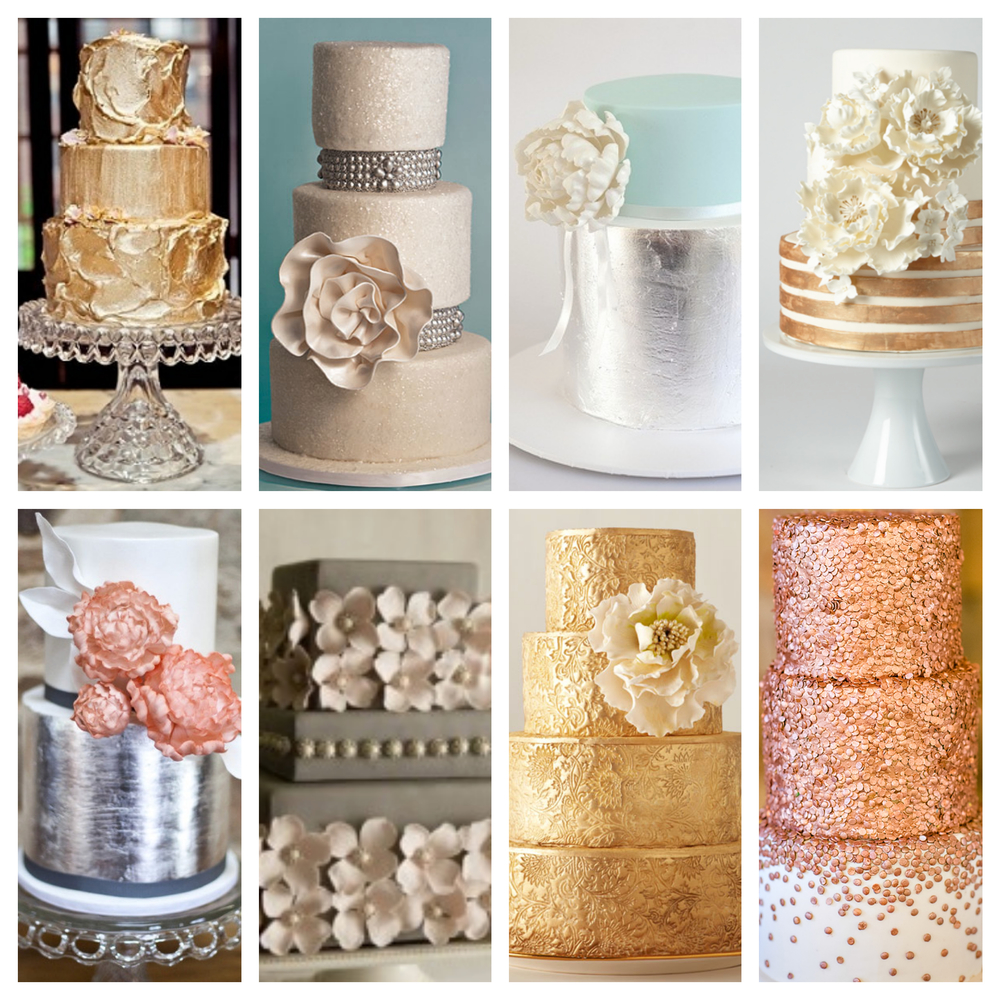 rose gold and silver wedding cake a sweet slice of history fashioned events 19273