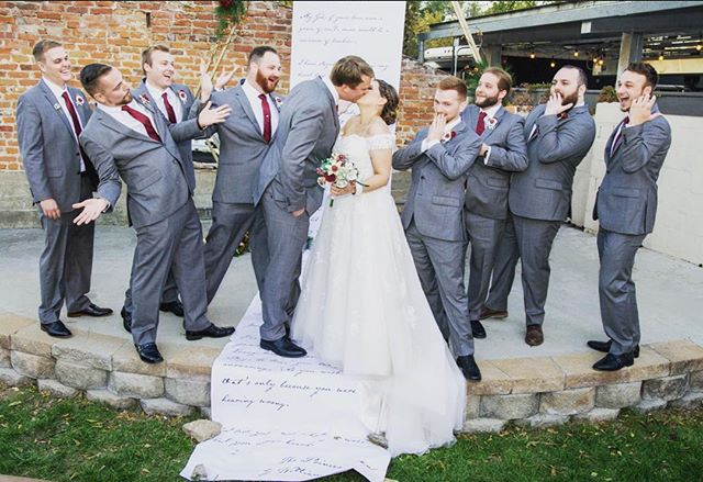 -The Bierbaums-⁣⠀ ⠀ The longer you look, the funnier it gets...⁣⠀ .⁣⠀ .⁣⠀ .⁣⠀ #groomsmen #brideandgroom #wedding #celebrateinstyle #bride #groom #weddingdress #style #fashion #ceremony #kansascity #lawrence #eventplanner #bestoflawrence