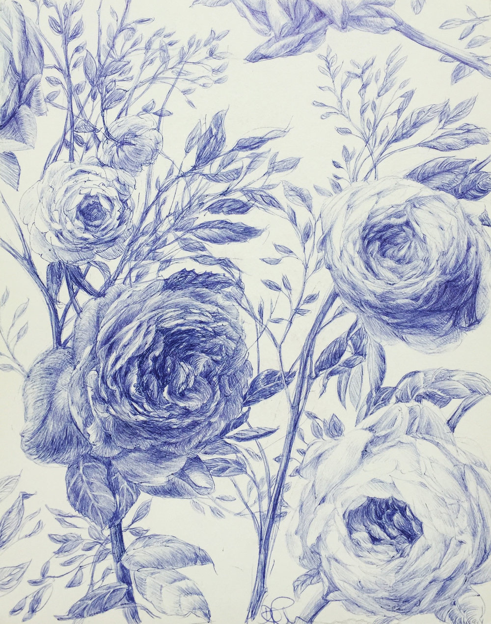 Still Life With Flowers In Blue II
