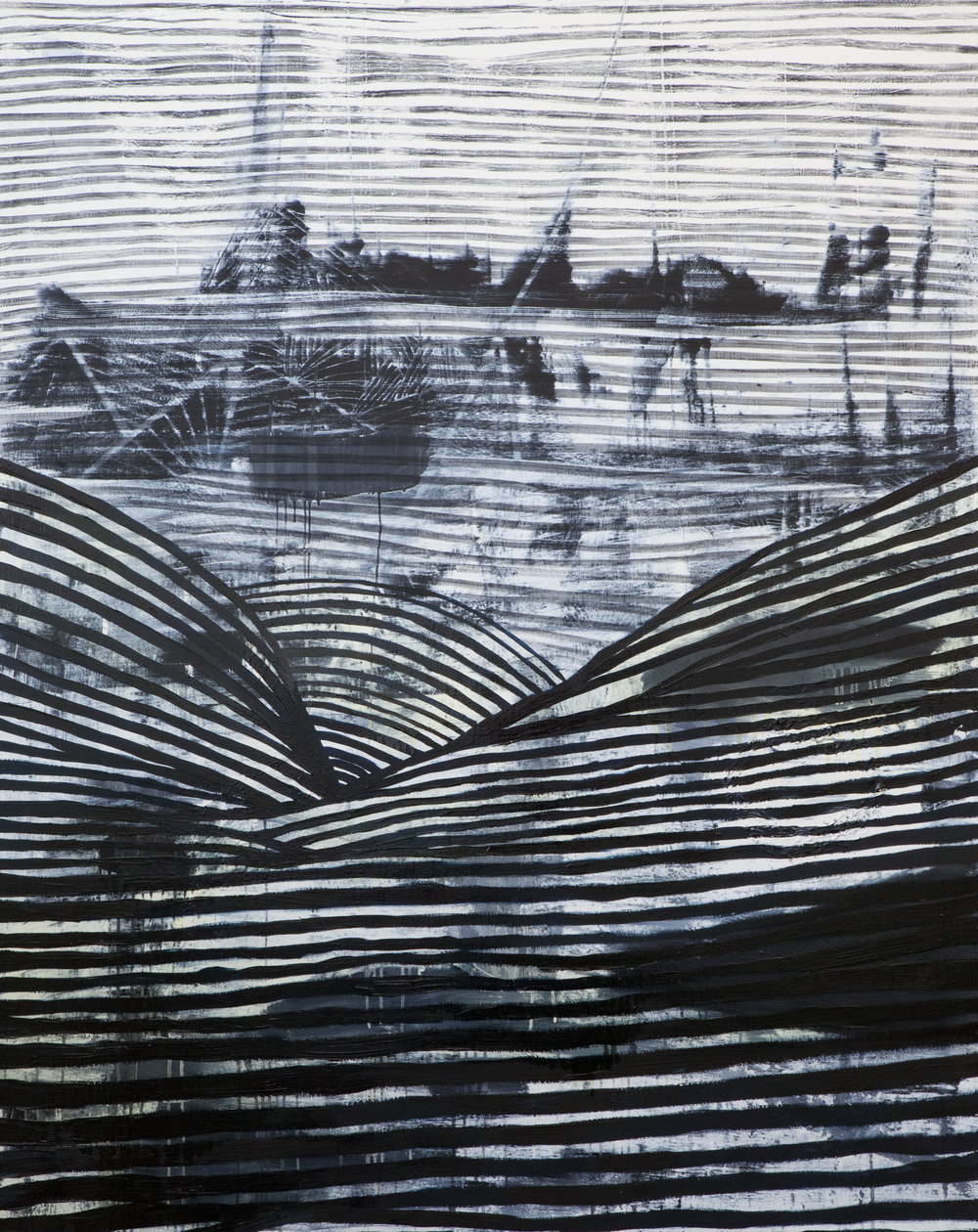 MEGALOPOLIS  oil and charcoal on canvas  60_ x 48_  .jpg
