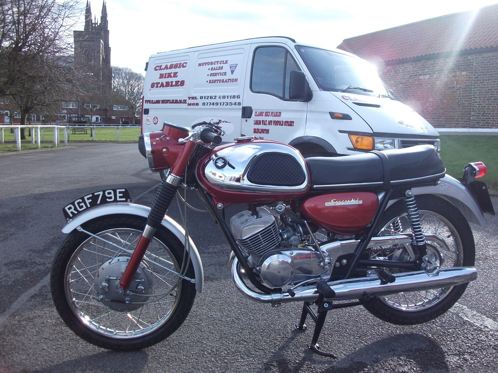 Complete restoration of a 1967 Suzuki T20 Super Six,