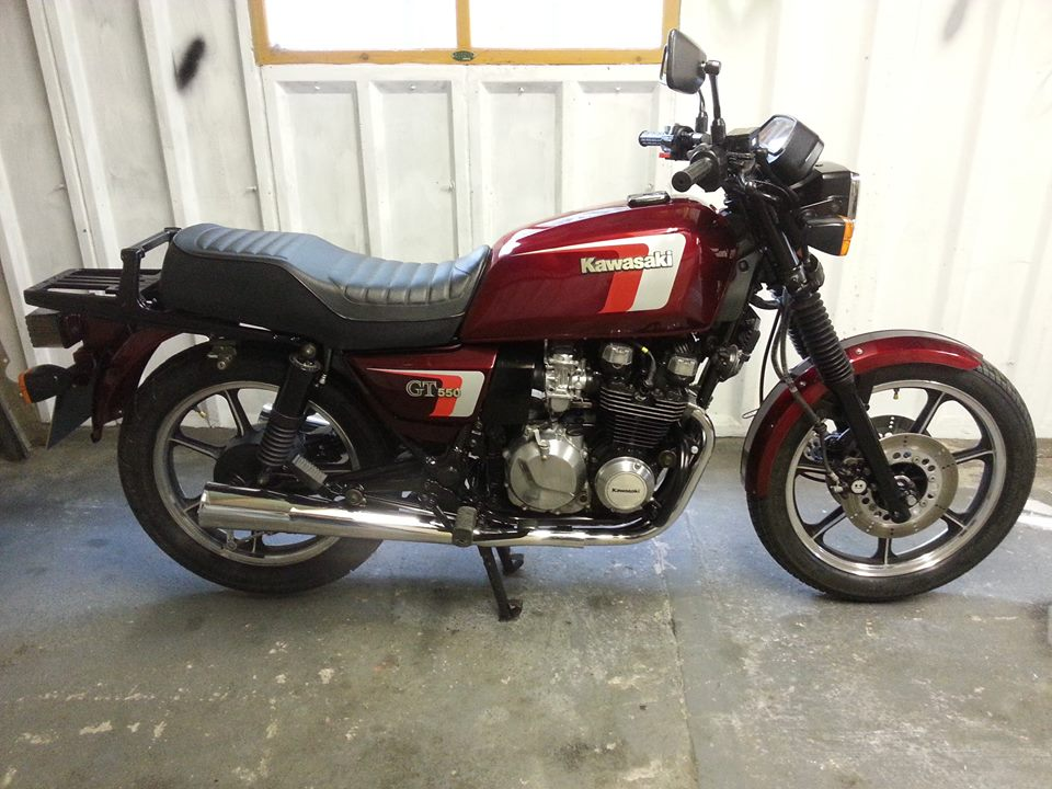 NOW SOLD. Kawasaki GT550 , 2 owners, very low miles , lovely original condition