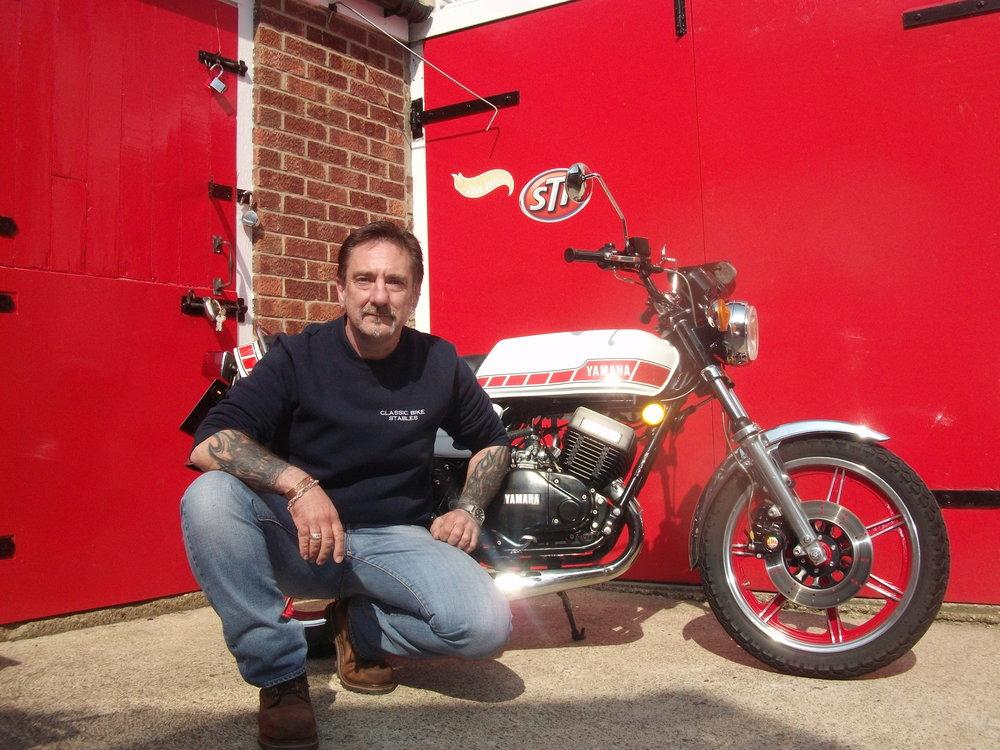 Me & my restored 1979 Yamaha RD400.