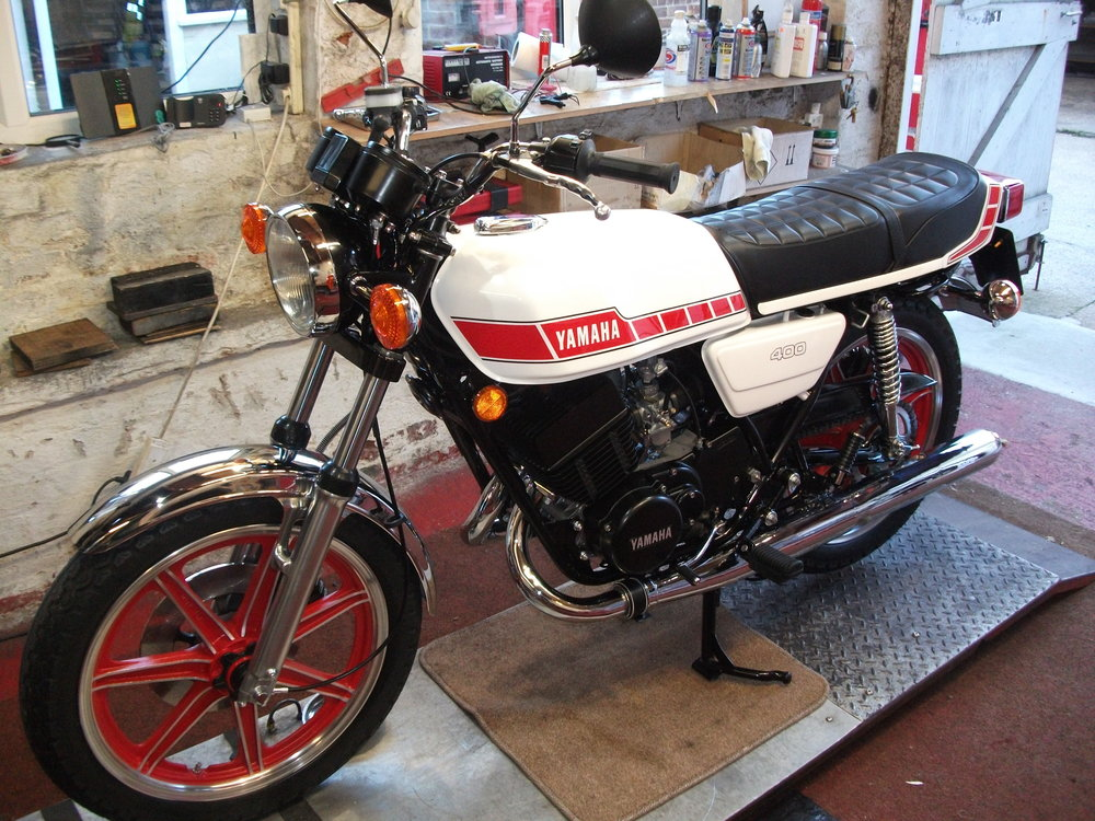 Yamaha RD400F , completely restored by us is 2018.