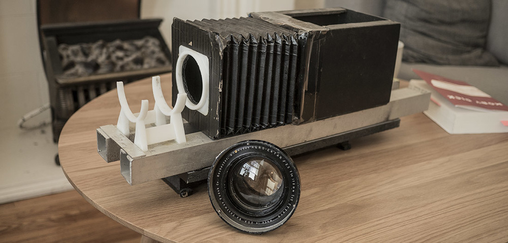 My Kodak Aero Ektar with the focus adapter i built