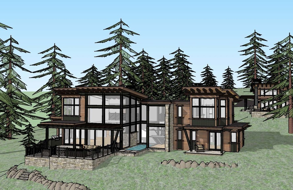 Main house rendering view one.