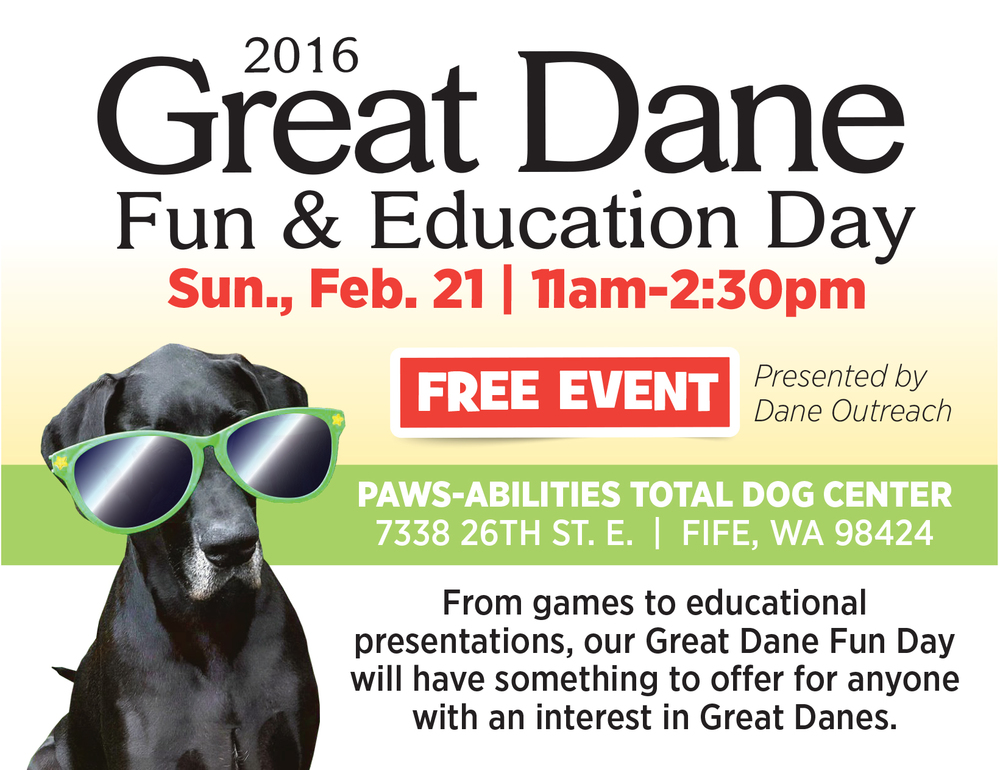See our Education Events under Services for our upcoming Dane Outreach Fun & Education Day!
