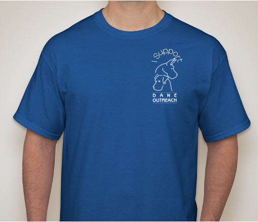 I Support Dane Outreach T-Shirt in Royal Blue