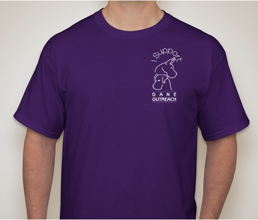 I Support Dane Outreach T-Shirt in Purple