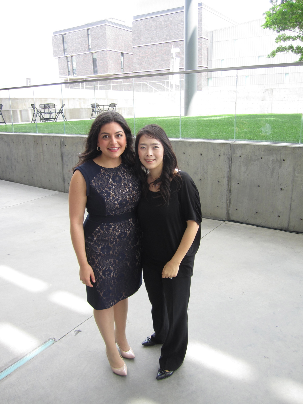 Myself and Hee-Young outside the Winspear after the recital.