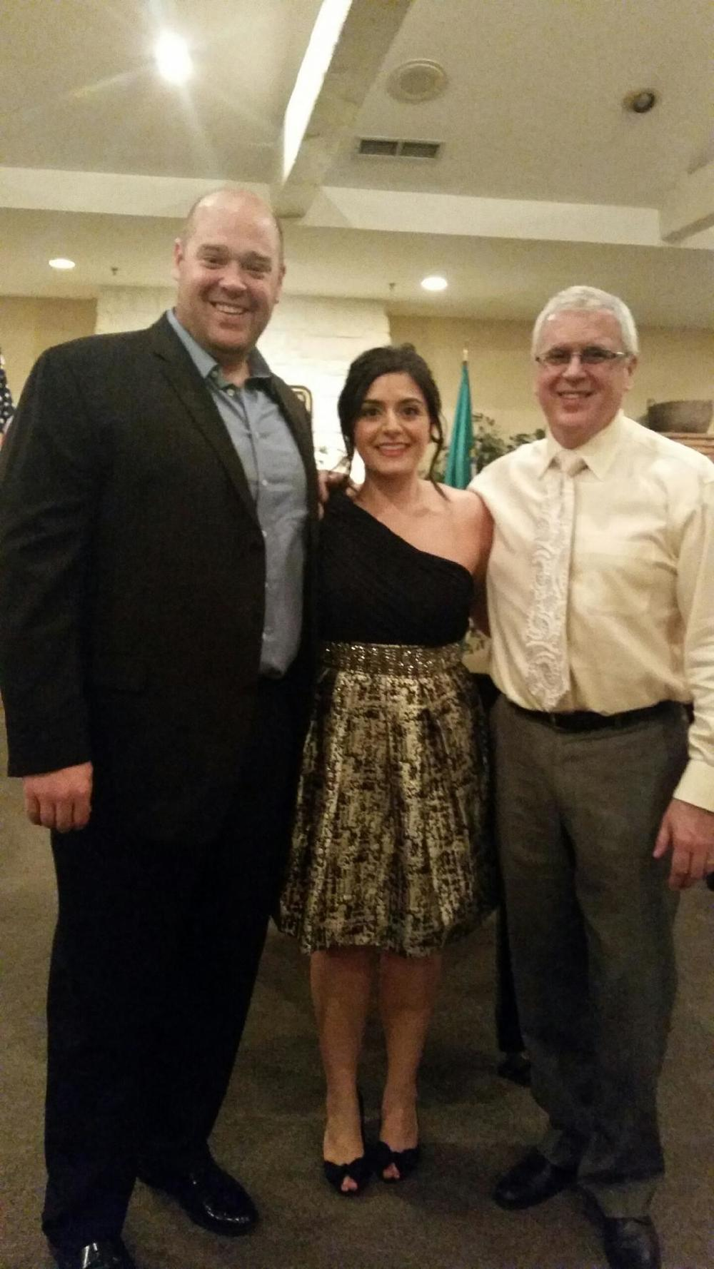 Brendan Tuohy (tenor), me, and Noel Koran (General Director, Tacoma Opera).