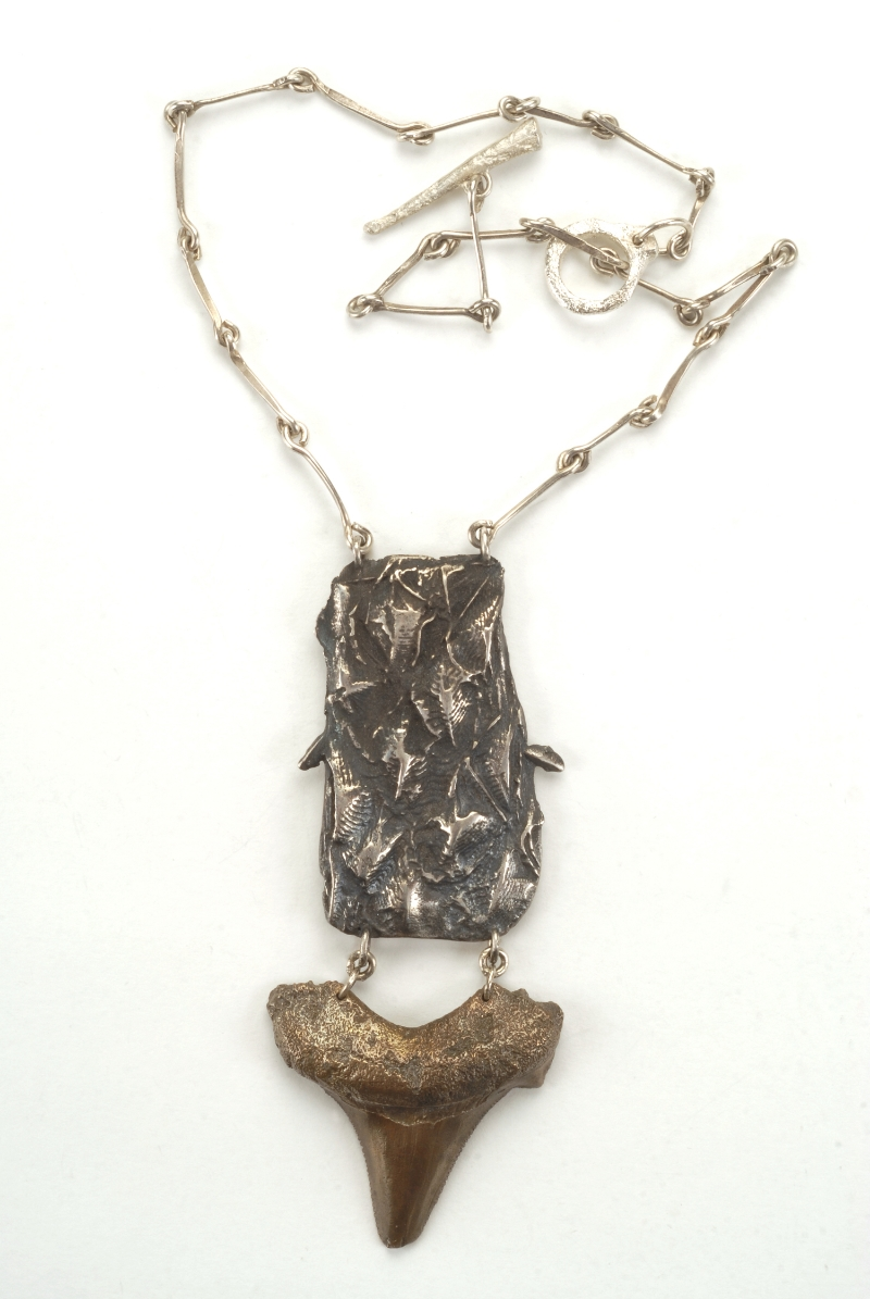 Ichthyosaur & Shark Necklace- Sterling and Bronze N/CF2
