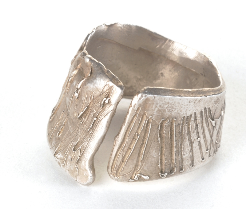 Open Etched Ring- R/CL3 Sterling
