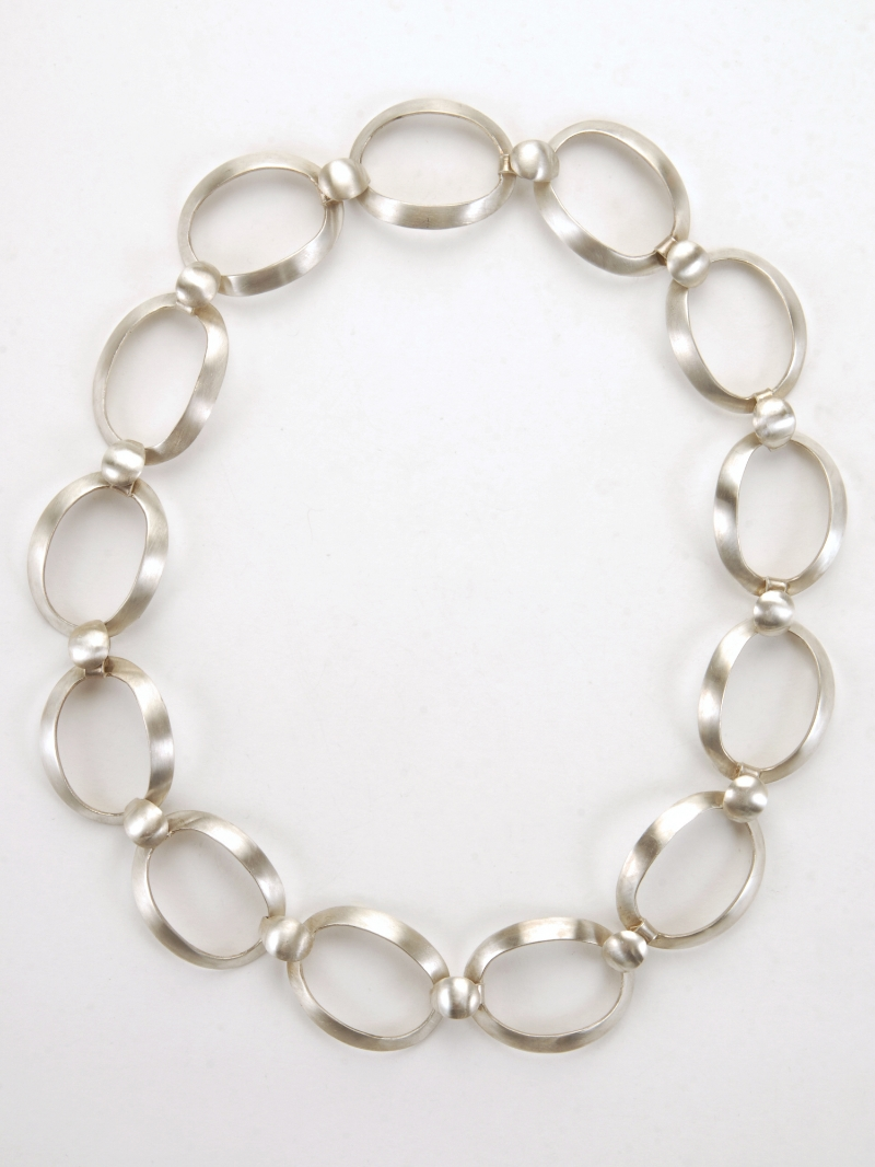 Golden Ration Link Necklace- Sterling Silver  N/CL1