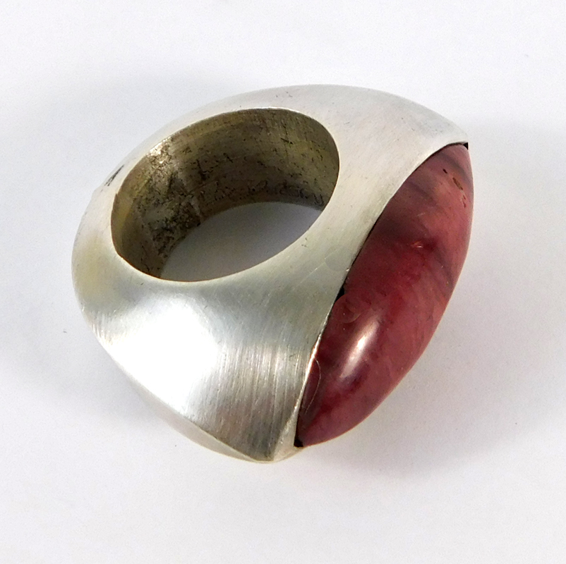 Red Jasper Ring- Sterling Silver