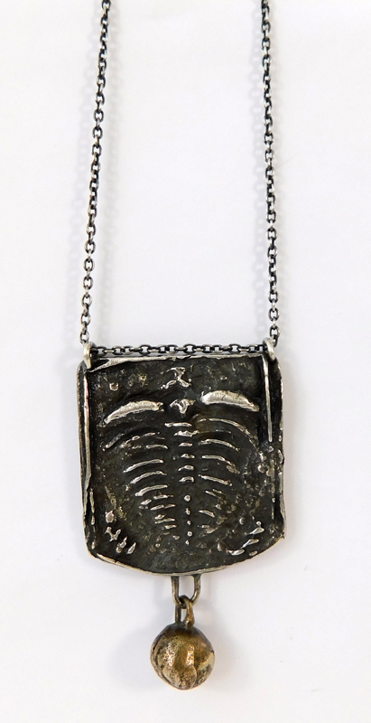 Trilobite Necklace- Sterling and Bronze