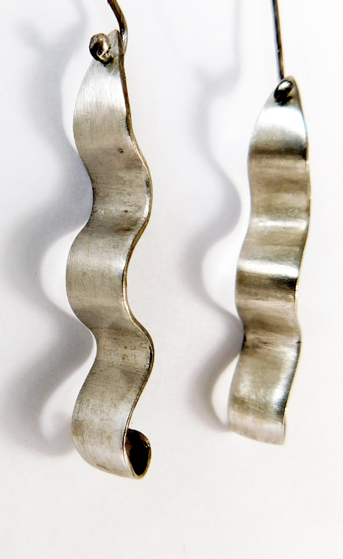 WAVE EARRINGS- STERLING
