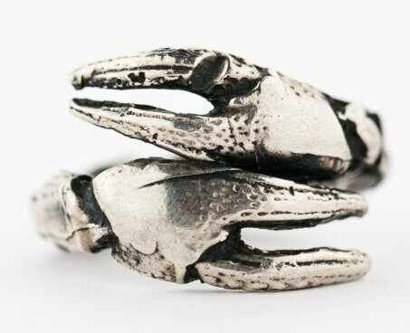 Crayfish Claw Ring- Sterling Silver