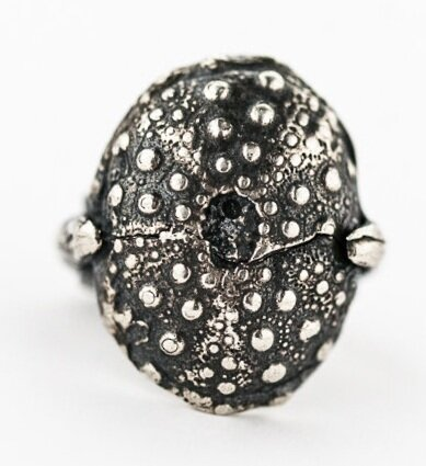Sea Urchin Ring- Sterling Silver