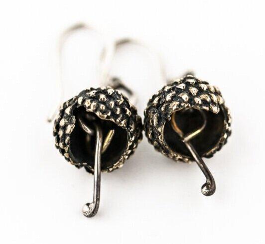 BUD-BELL EARRINGS-STERLING