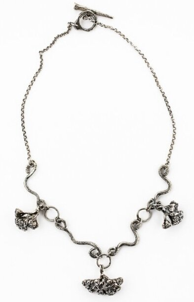 YARROW FLOWER NECKLACE- STERLING