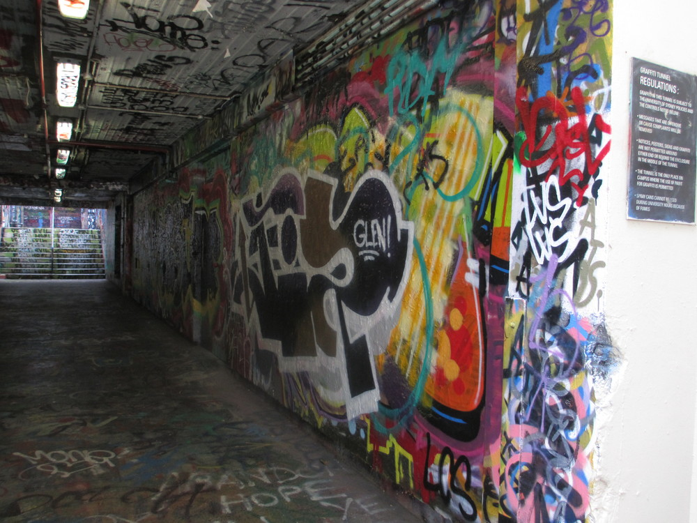 Graffiti Tunnel, University of Sydney Campus, NSW