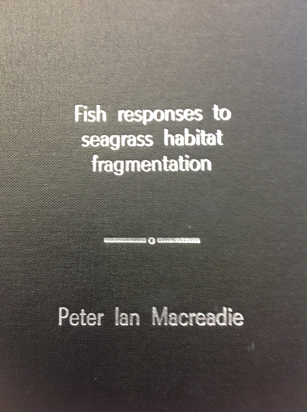 Pete Macreadie's dissertation