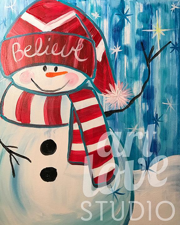 Believe Snowman