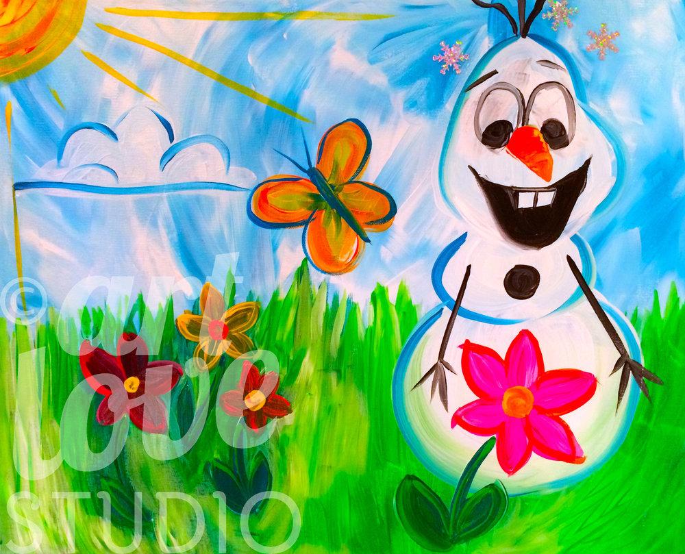 Spring Snowman