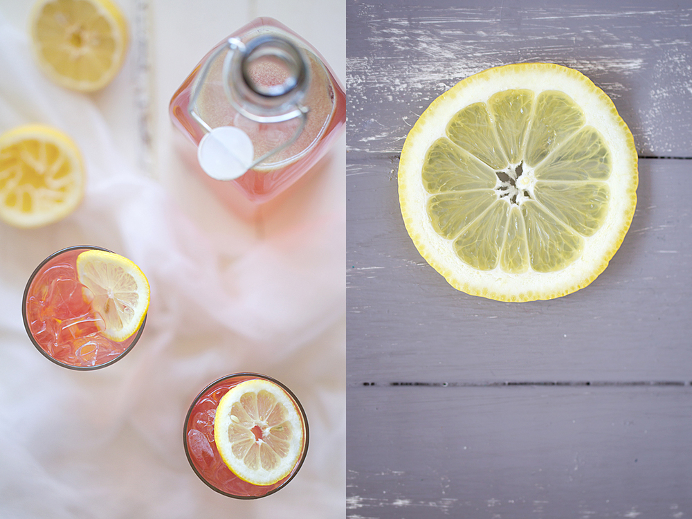 Pomegranate Lemonade Spritzer Diptych
