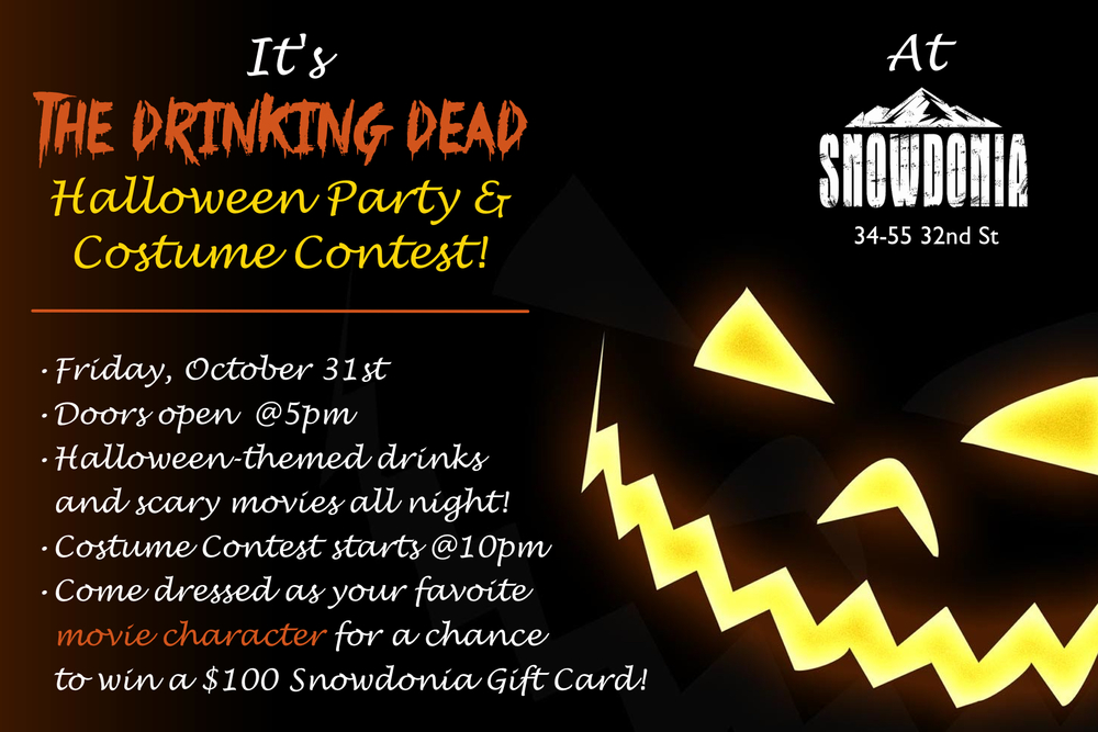 it s the 2nd annual drinking dead halloween party costume contest