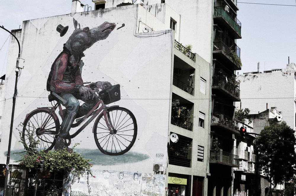 Bicycle Graffiti - San Telmo, Argentina