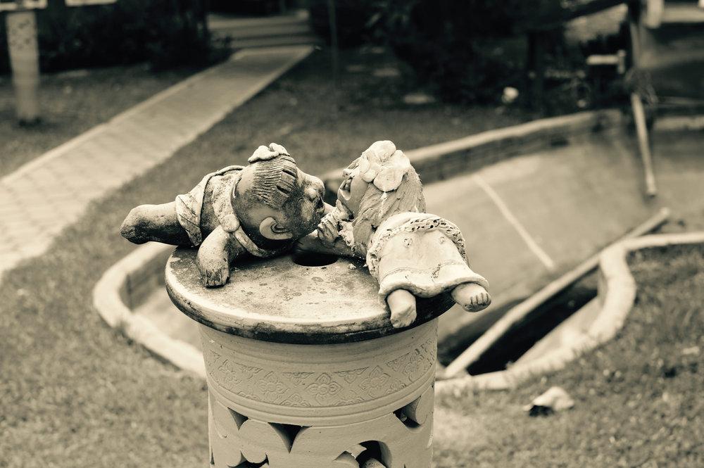 Creepy Broken Child Statues - Chiang Mai, Thailand