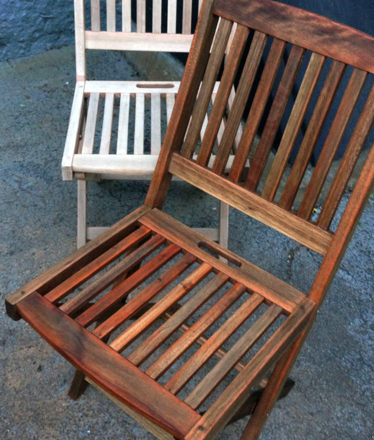 {before and after} - Project: DIY Renew Outdoor Teak Set — RaeChild