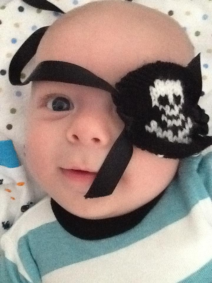 "{Baby Luke as Blackbeard Baby ""Shiver me timbers!""}"