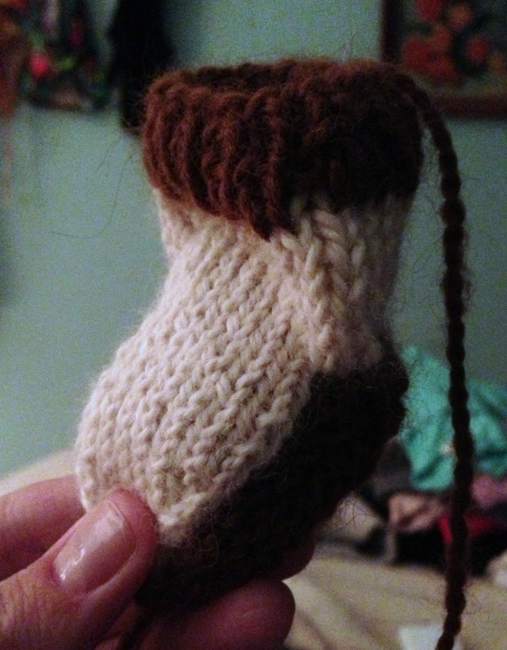{finally off the knitting needles...}