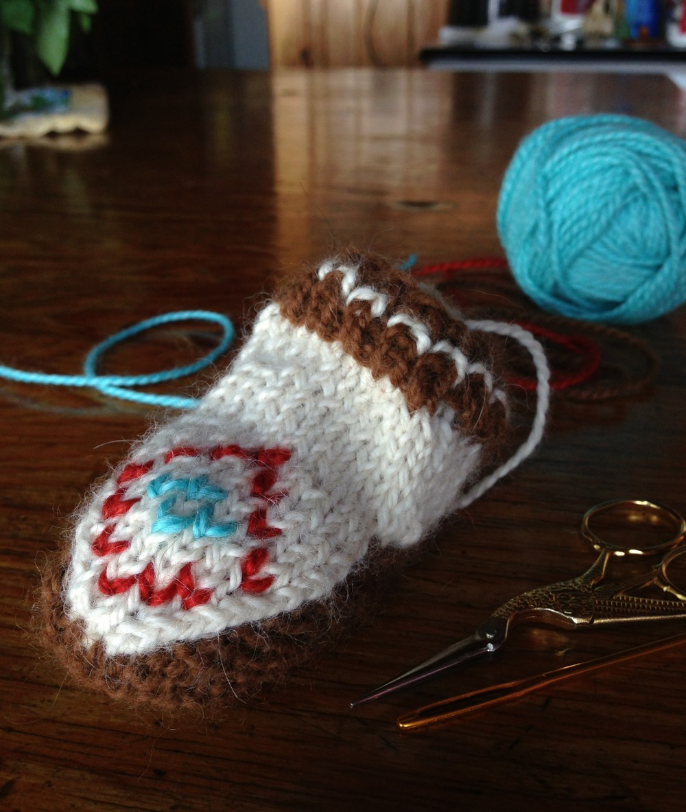 """{finishing touches using the """"duplicate"""" embroidery stitch}"""