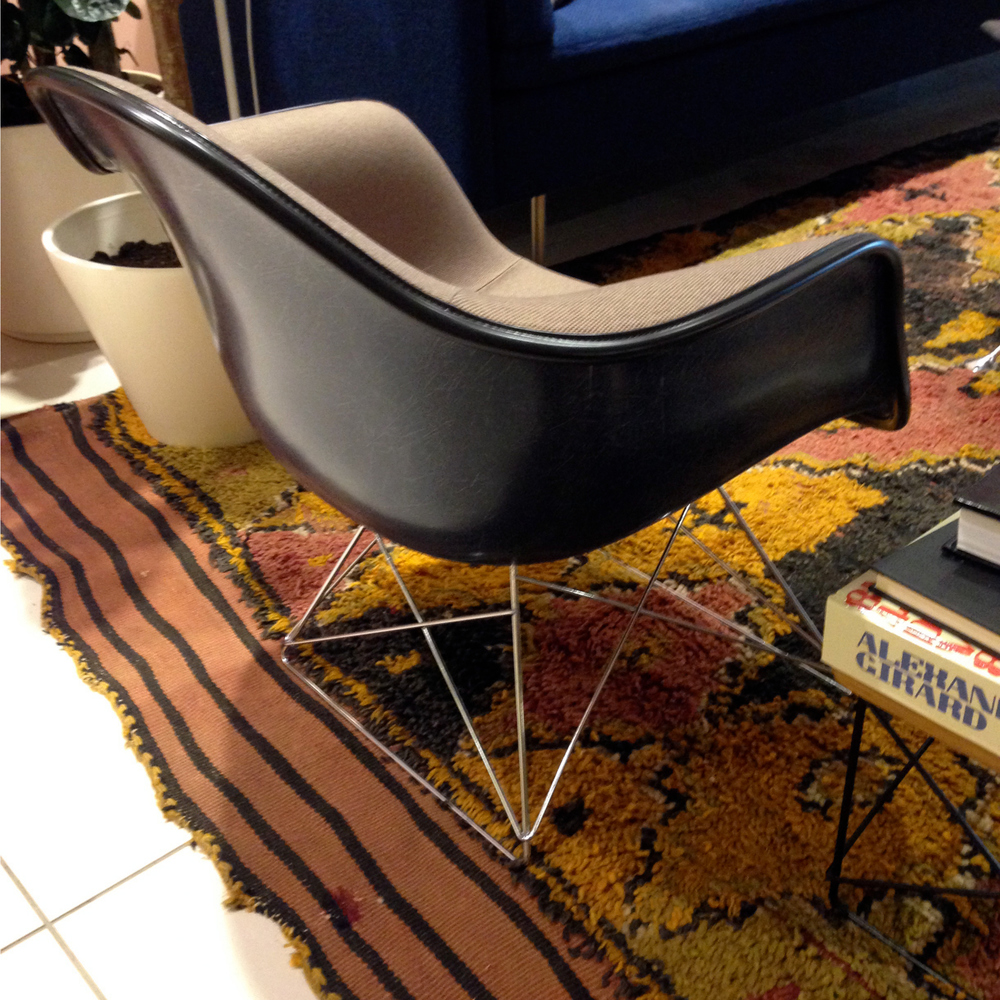 An Eames Molded Fiberglass Shell on a wire base... yet to be released